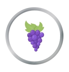 Grapes icon cartoon singe fruit icon from the vector