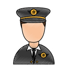army officer avatar character vector image