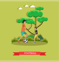 football concept in flat style vector image