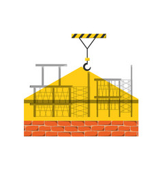 Scaffold and bricks vector