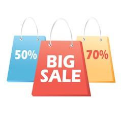 handbags sale signs vector image