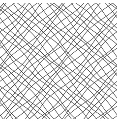 Seamless pattern with crossed wavy lines grid vector