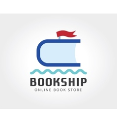 Abstract ship book logo template for branding and vector