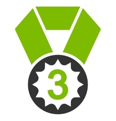 Third place icon from competition  success vector