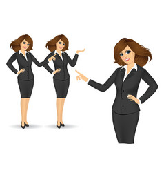 Business women showing something vector