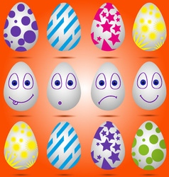 Set of easter eggs 01 vector