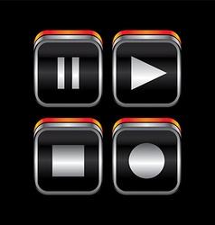Metal plate theme icon button vector