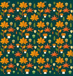 Autumn foliage seamless pattern vector