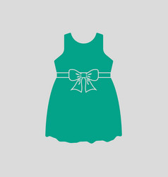 Baby girl dress icon vector