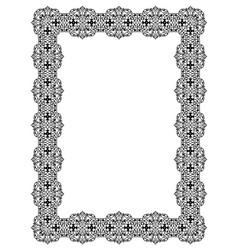 Black openwork frame vector