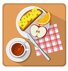 breakfast and tea vector image vector image