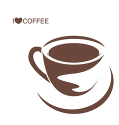 Coffee cup with plate vector