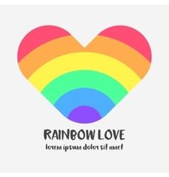 Conceptual logo with a rainbow heart vector