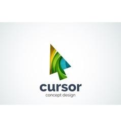 Cursor logo template mouse pointer and arrow vector image