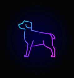 dog colorful linear icon vector image