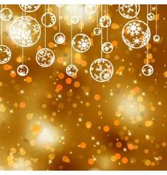 elegant gold christmas vector image vector image