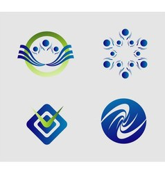 Element logo set abstract vector image
