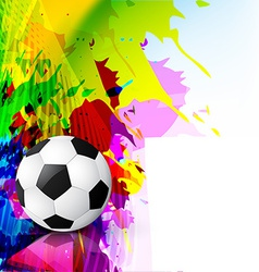 grunge style football vector image
