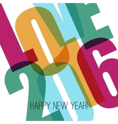Happy new year greeting with number vector image