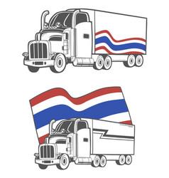 Heavy truck with thai flag vector