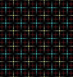 Neon diamonds vector image vector image