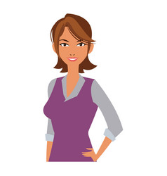 Portrait character woman business worker vector