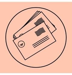 postal envelope sign e-mail symbol icon vector image vector image