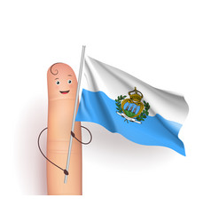 San marino flag waving vector