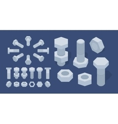 Screw-nuts and bolts vector image