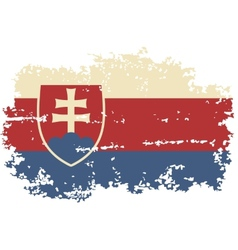 Slovakia grunge flag vector