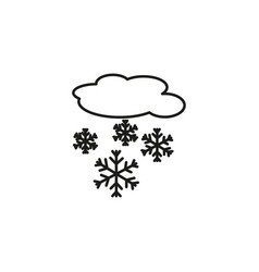 Snowing cloud icon vector