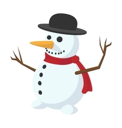 Snowman cartoon icon vector image vector image