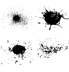 spatters vector image vector image