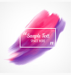 Stylish pink and purple watercolor paint vector