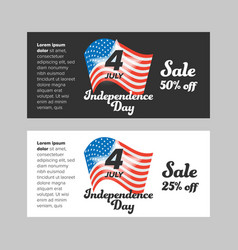 Usa independence day banner vector