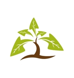 Leaf arrow plant green nature ecology icon vector