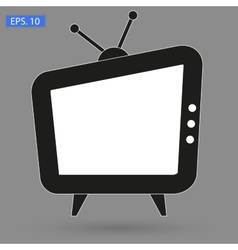Tv icon picture flat style vector