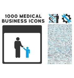 Father calendar page icon with 1000 medical vector