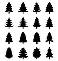 Christmas tree icons vector