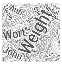Natural remedies for losing weight st johns wort vector