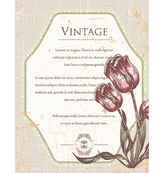 vintage frame with floral vector image