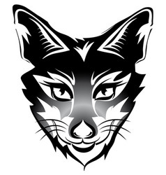 Fox head tattoo brand black isolated on white vector