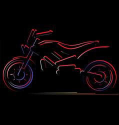 motorcycle on black background moto vector image