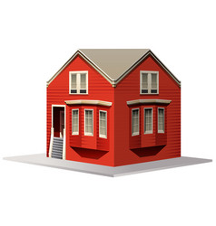3d design for red house vector