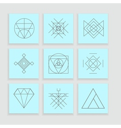 Set of geometric hipster shapes6 vector