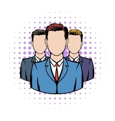 Businessmen comics icon vector