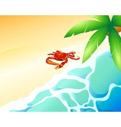 Crab beach vector