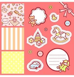 Baby scrap vector image vector image
