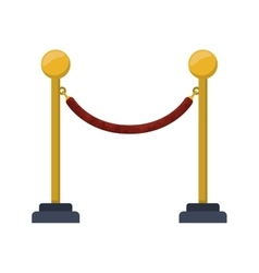 Barrier rope icon vector