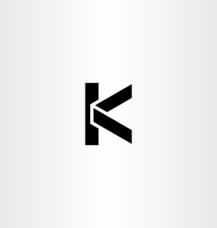 black logotype k letter k logo icon design vector image